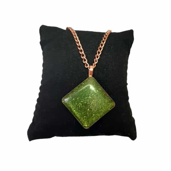 ست جواهرات مسی طرح اکلیلی سبز