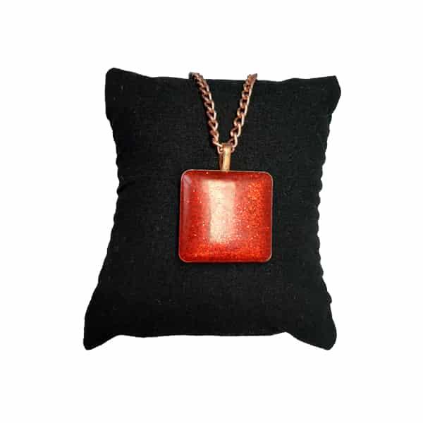 ست جواهرات مسی طرح اکلیلی قرمز
