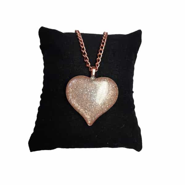 ست جواهرات مسی طرح قلب اکلیلی