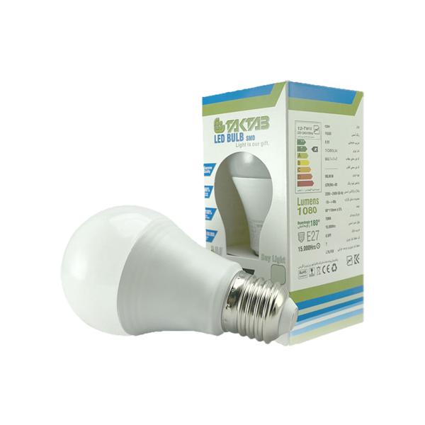 لامپ LED حبابی 12 وات تک تاب