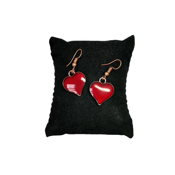 ست جواهرات مسی طرح قلب قرمز