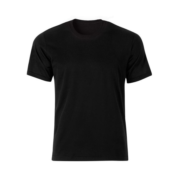 تیشرت مشکی نخی مردانه با چاپ طرح دلخواه