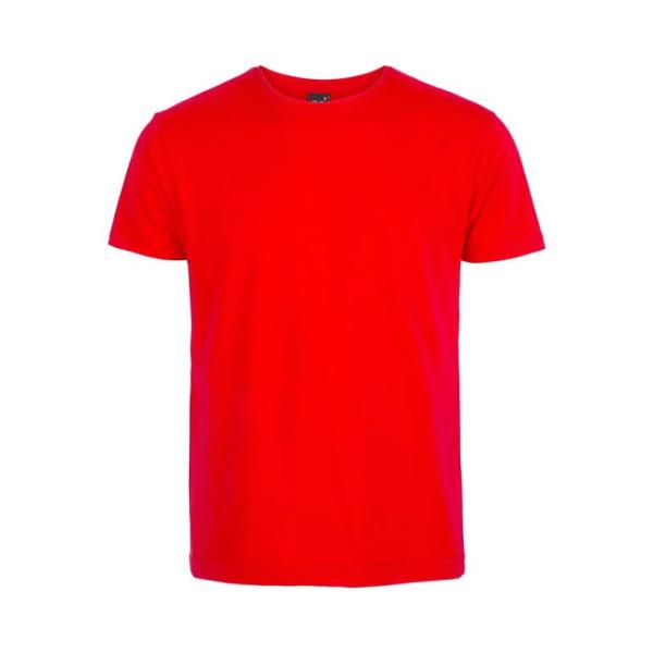 تیشرت قرمز نخی مردانه با چاپ طرح دلخواه