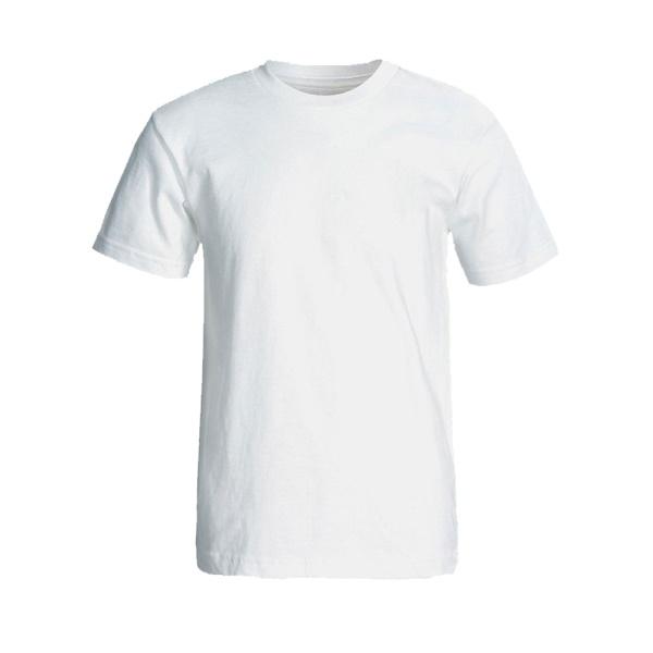 تیشرت سفید مردانه با چاپ طرح دلخواه