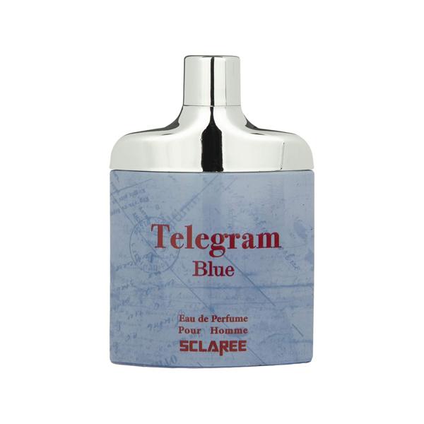 ادو پرفیوم مردانه اسکلاره مدل تلگرام آبی