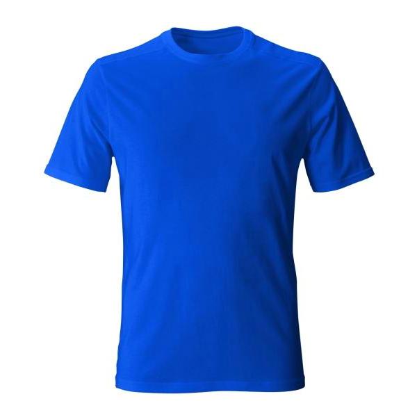 تیشرت آبی نخی با چاپ طرح دلخواه