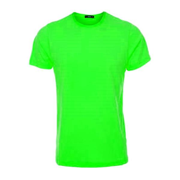 تیشرت سبز نخی با چاپ طرح دلخواه