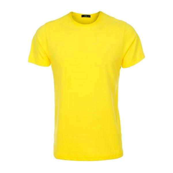 تیشرت زرد نخی با چاپ طرح دلخواه