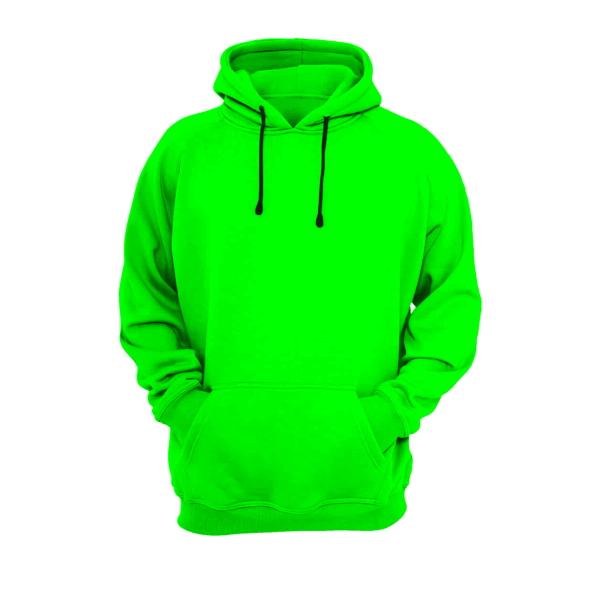 هودی سبز نخی با چاپ طرح دلخواه