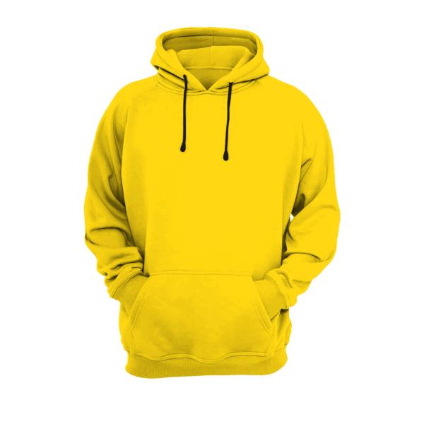 هودی زرد نخی با چاپ طرح دلخواه